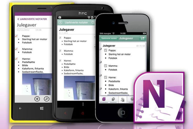 OVERALT: Microsoft har gitt ut OneNote-apper til Windows Phone, Android og iOS; både iPad og iPhone. Dermed kan også de som ikke bruker Microsofts eget operativsystem bruke tjenesten.  Foto: Ole Petter Baugerød Stokke