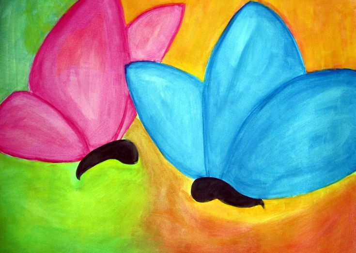 Best 25 easy butterfly drawing ideas on pinterest for Watercolor pictures easy