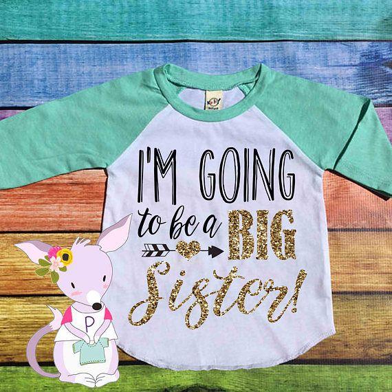 I'm going to be a big sister raglan top girls big sister