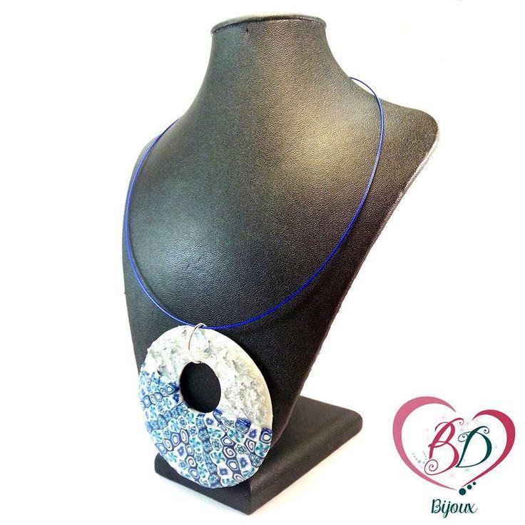 Ciondolo in Fimo effetto Murrina (millefiori) : Collane di bidibijoux