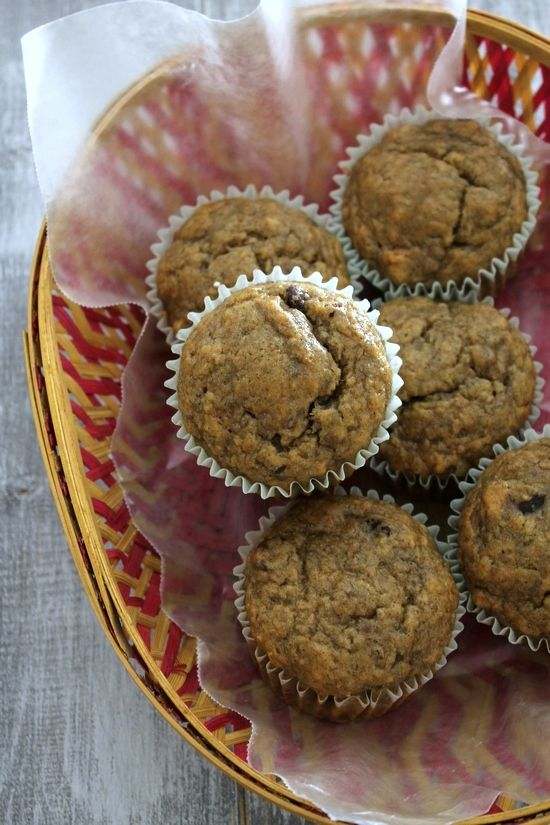 Eggless/Dairy Free Banana Muffins Recipe. Add a cup of frozen blueberries! Great for when you forget to go grocery shopping for a couple weeks and you're out of eggs and milk. =)