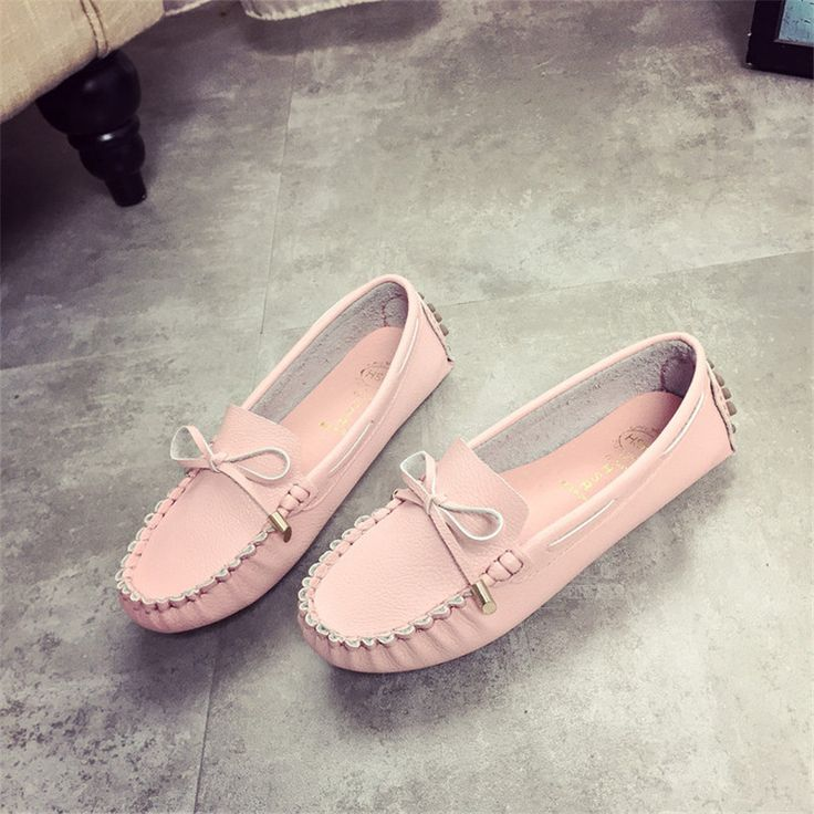 Fashion Oxford Shoes For Women Ladies Leather Flats Moccasins Sapatos Femininos 3 Colors Free Shipping Oxford Shoes For Women