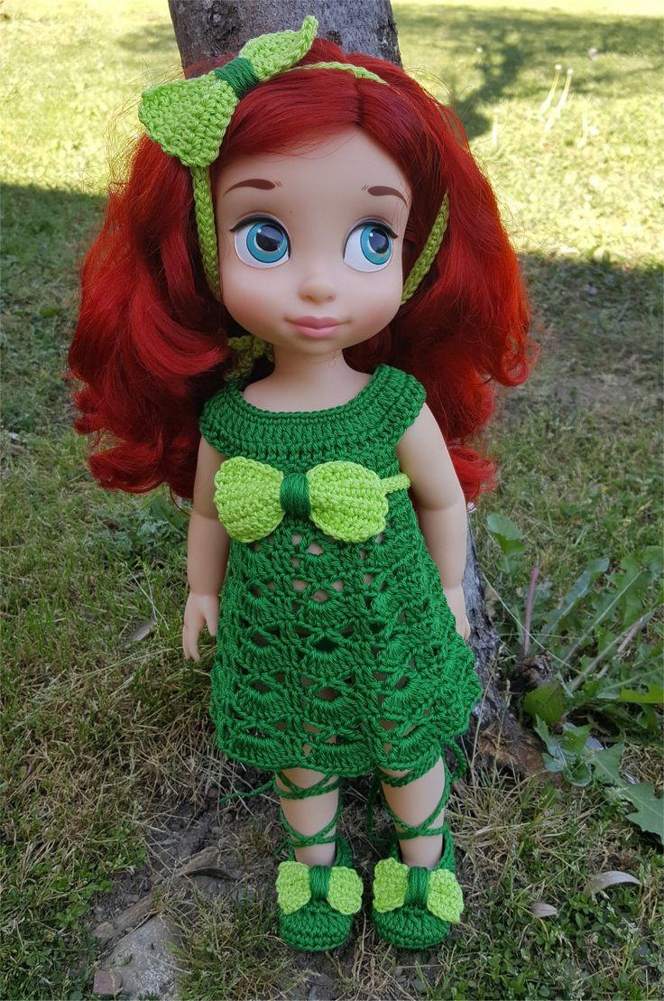 129- FICHE PATRON CROCHET Ensemble Astrid pour poupée Animator : Jeux, jouets par atelier-crochet