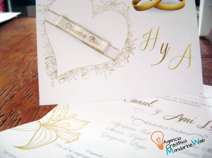 Invitaciones de boda totalmente personalizadas