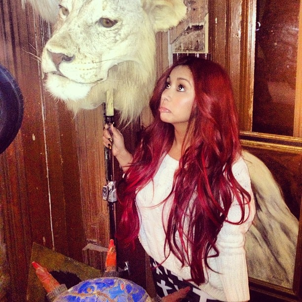 Love her red hair!<3 #snooki