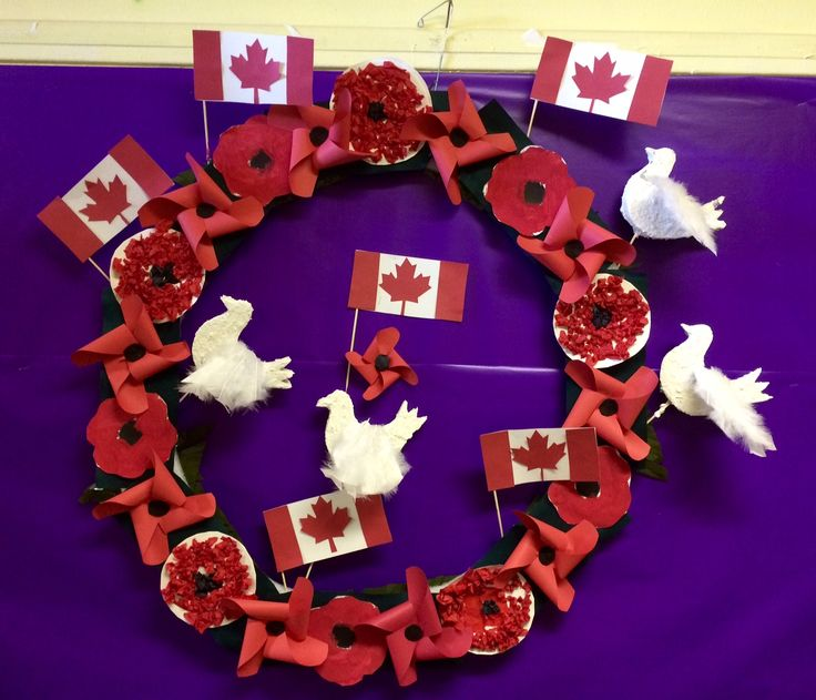 Remembrance day wreathe.