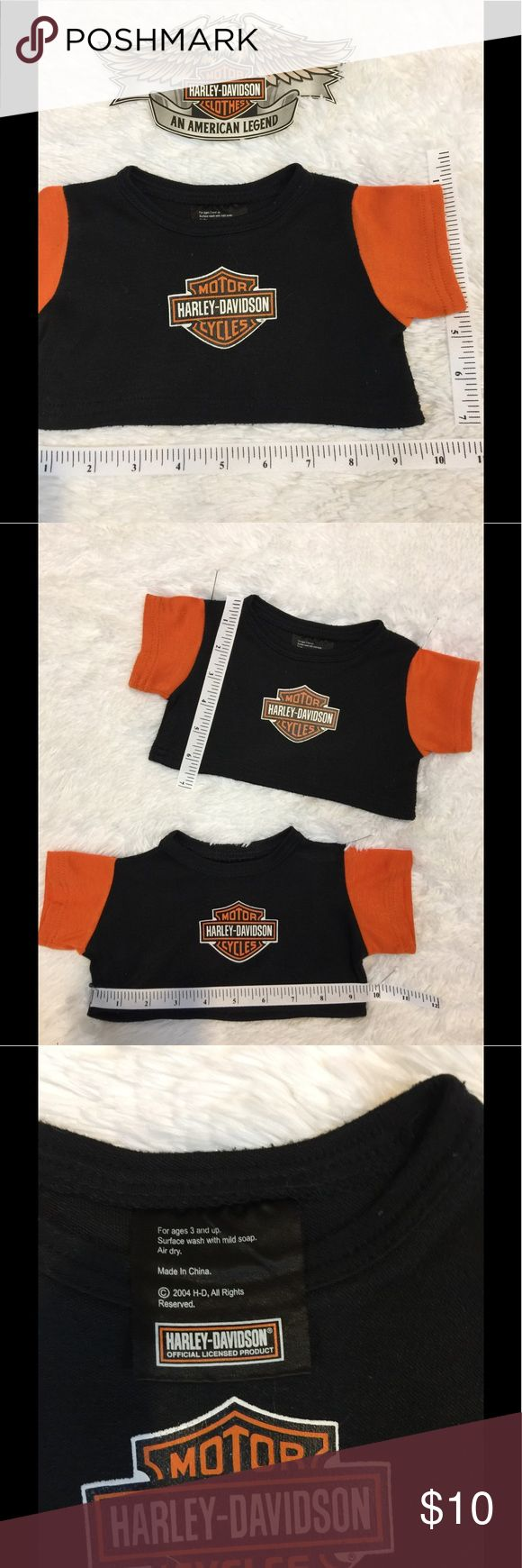 Harley Davidson Pet Tee So adorable, I have two for sale Harley Davidson pet shirts. ( even though I don't have a dog)  Price is for one tag me if you want both. One shirt $ 10 both $ 17 Harley-Davidson Other