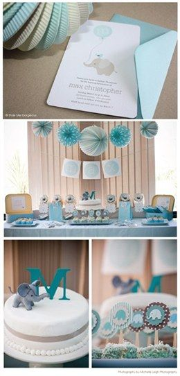 baby shower decoration ideas for boys....elrphants...ill be doing this if a certain someone ever has a boy