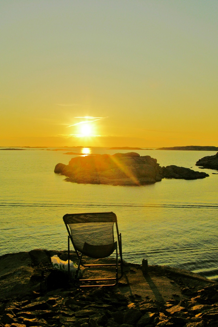 Chilling at the coast near Lysekil, Sweden