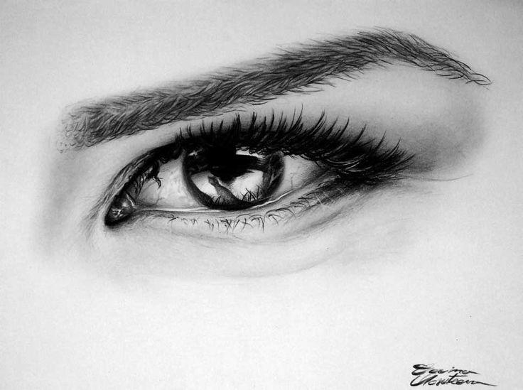 Eye - Girl - Desen în Creion de Corina Olosutean // Eye - Girl - Pencil Drawing by Corina Olosutean