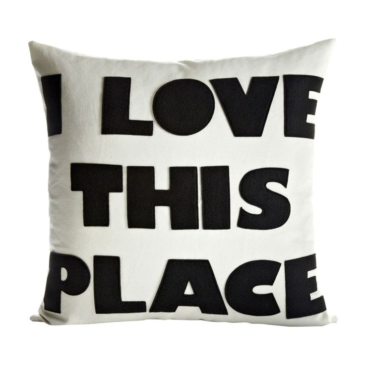 Celebrate everyday i love this place throw pillow for Furniture 5 letters