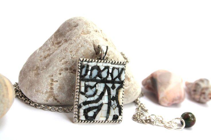 Collane con pendenti - Bandana / collana con pendente / micromosaico - un prodotto unico di muse-withlove su DaWanda