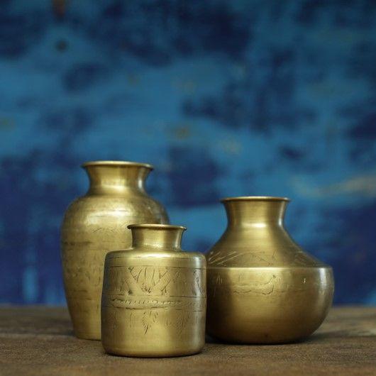 Nami Brass Vase