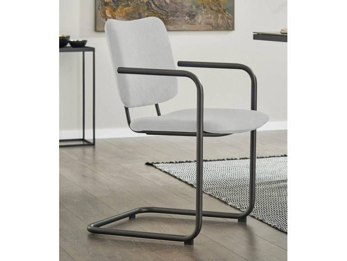 Freischwinger Stuhl Tempra Grau Armlehne Metall Gallery M In 2020 Chair Dining Room Chairs Home Decor