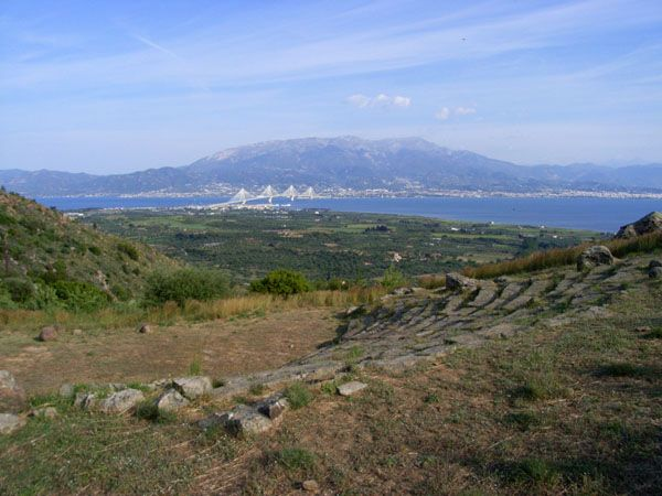 Makyneia Ancient Theater near Messollogi
