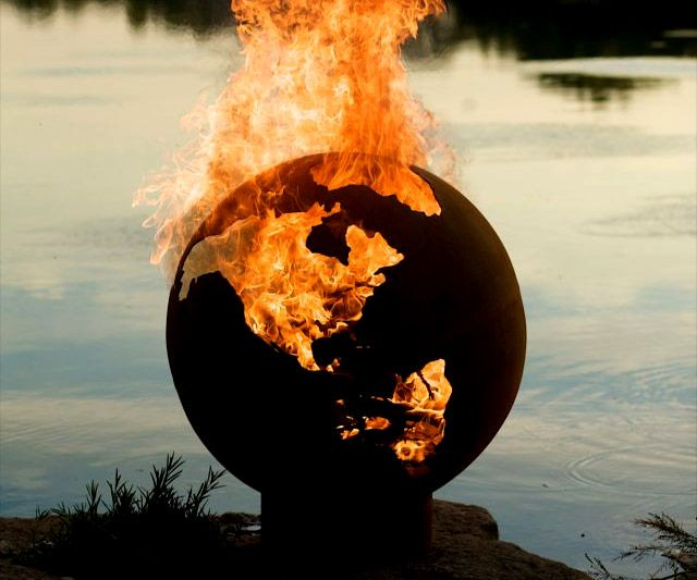 Planet Earth Globe Fire Pit.