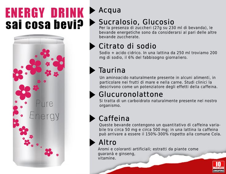 Le raccomandazioni generali consigliano un consumo moderato di bevande energetiche. Gli studi che hanno interessato questi prodotti riguardano essenzialmente: l'alto contenuto di caffeina, l'abitudine a mixare queste bevande con alcol, soprattutto tra i giovani. #energydrink