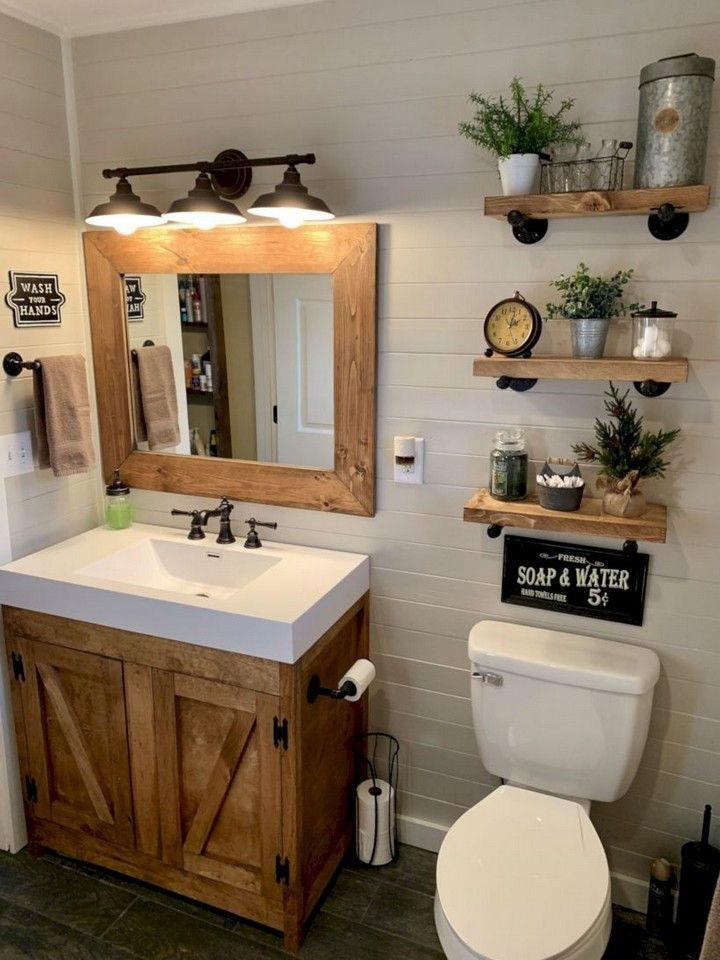 Awesome Diy Bathroom Decorating Ideas On A Budget Outhouse Bathroom Bathroom Decor Farmhouse Bathroom Decor
