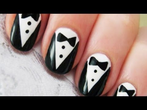 Keep it classy in black and white with these elegant tuxedo nails.    SUBSCRIBE to get notified when new Style videos are posted!    Thank you to cutepolish for being a part of the Disney network on YouTube.