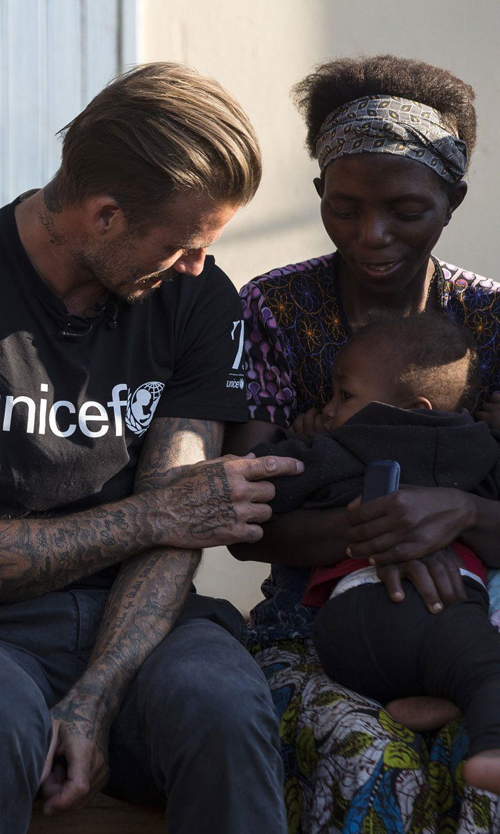 "Pin for Later: David Beckham Bonds With Children During His ""Inspiring"" Visit to Africa"