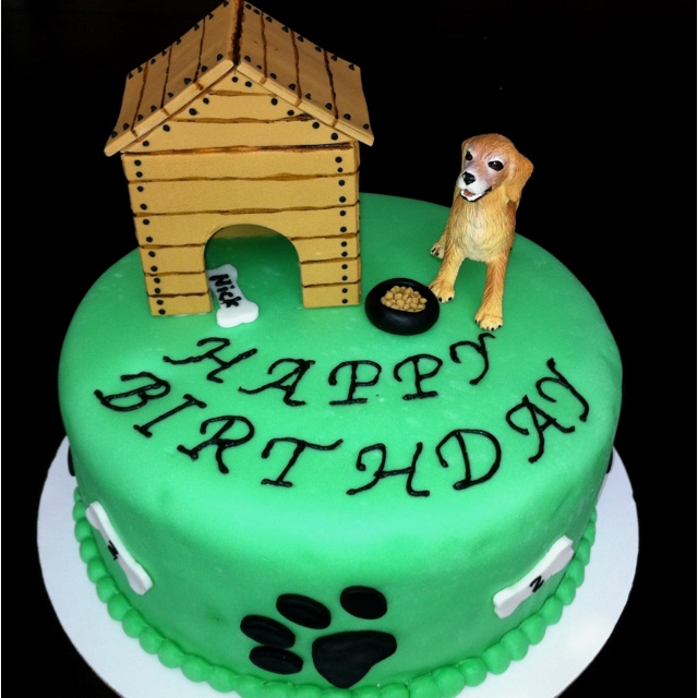 Dog theme birthday cake. Dog and Kitten Birthday Ideas ...