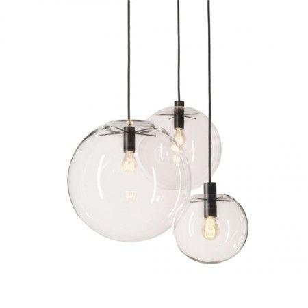 Classicon-Selene-Suspension-Lamp-mouth-blown-clear-glass