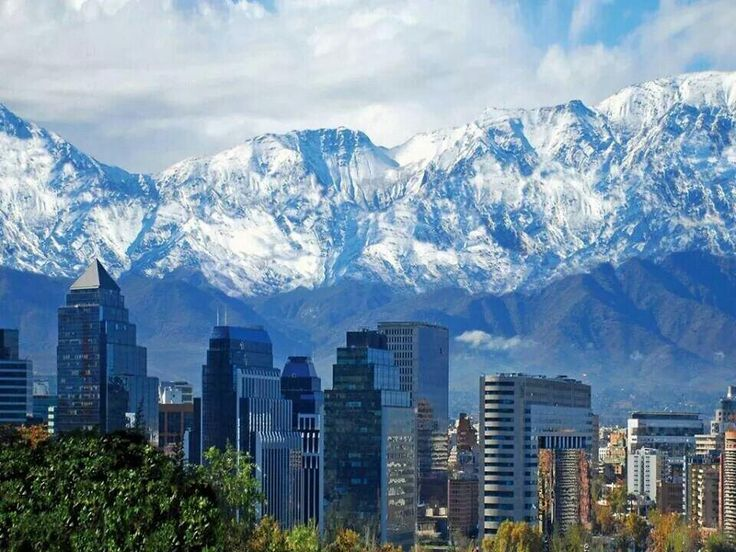 Cordillera de los Andes, Santiago de Chile post rain this week