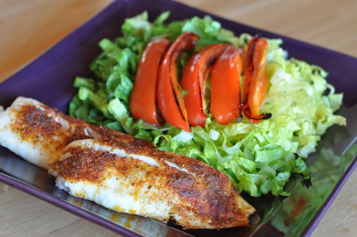 Try this delicious Baked Cajun Tilapia with Green Salad and Roasted Bell Peppers Medifast recipe. This is a lean and green recipe, which is compliant with the Take Shape For Life program.