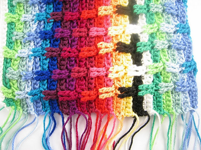 78 Images About Scrap Yarn Crochet Afghans On Pinterest