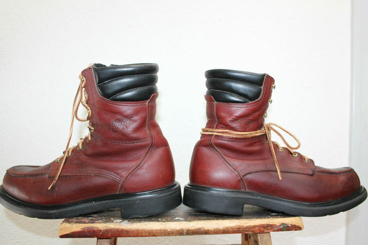 Vintage Red Wing 402 Leather Hunting Work Boots Size 9.5 B | Wings ...