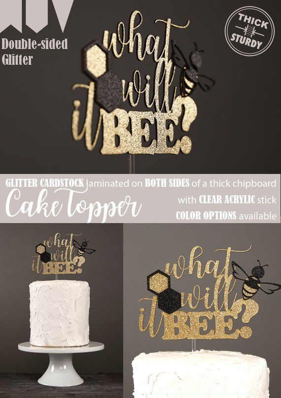 What Will It Bee Cake Topper Bee Gender Reveal Cake Topper