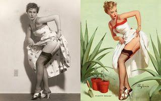 La Fototeca: ON PHOTOGRAPHY: Modelos Pin-up antes y después del Photoshop