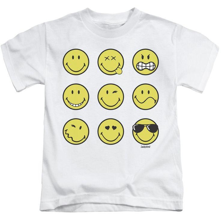 Smiley World/Nine Faces Short Sleeve Juvenile T-Shirt in