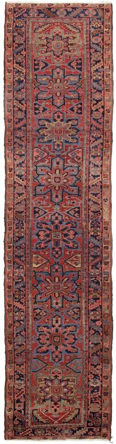 "ABC Home Antique Heriz Wool Runner - 3'6""x13'11"""