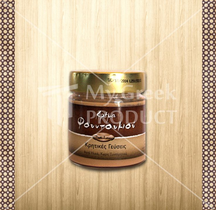 """Hazelnut Cream """"Castilioni""""  200g, from Gefira Zouridas. Contains Hazelnut, sugar, vegetable oil & fats, skimmed milk powder, lactose, whey powder, emulsifier (soy lecithin) natural flavorings salt. May contain traces of nuts & lupine. see more http://mygreekproduct.com/index.php?id_product=130&controller=product&id_lang=1"""