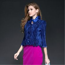 Best Buy follow this link http://shopingayo.space Hot sale cotton satin three quarter sleeve short pleats ladies winter coats