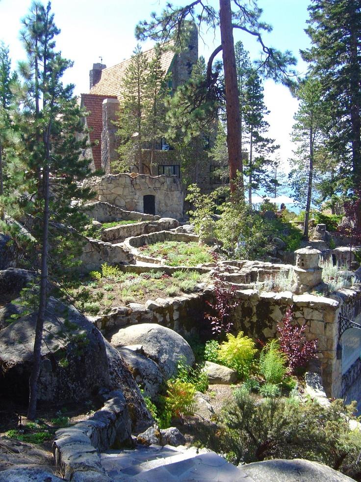 Garden at Thunderbird Lodge on Lake Tahoe