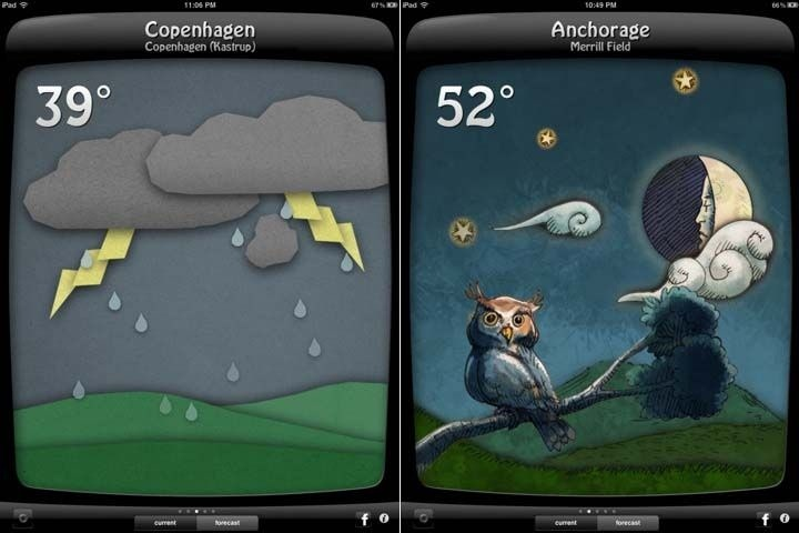Illustrated weather app