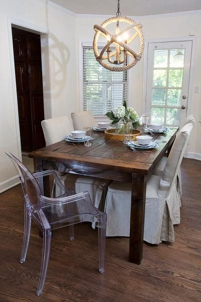 After Pricing Rustic Farmhouse Tables Patrick Built The Dining Table Using Plans Off Pinterest In