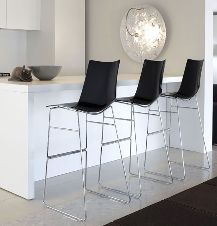 CONTRACT ESSENTIALS   Zebra bar stool, perfect for kitchens, bars and restaurants. #DesignIcons #Italianfurniture  #Interiordesign