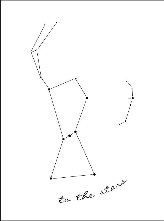 Orion Constellation Tattoo I designed in illustrator