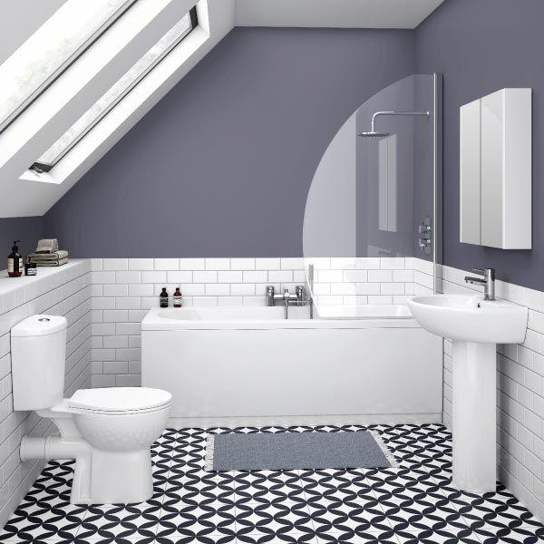 1000 Ideas About Grey White Bathrooms On Pinterest: 1000+ Ideas About Metro Tiles Bathroom On Pinterest