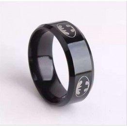 Titanium Stainless Steel Black Batman Rings For Men & Women