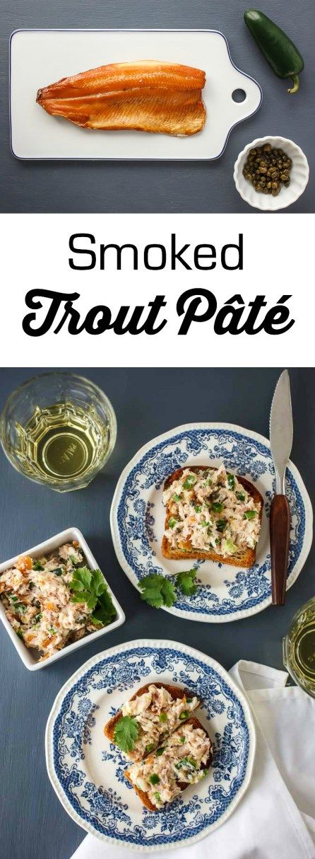 This Smoked Trout Pâté is punchy, salty and spicy and great to nosh on while enjoying a dry Riesling or to serve for guests with crackers as an appetizer.