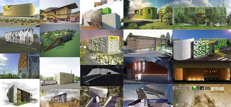 Οι 19 προτάσεις του Αρχιτεκτονικού Διαγωνισμού για τον Αρχιτεκτονικό Σχεδιασμό κτιριακού οργανισμού που θα στεγάσει Μονάδα Παραγωγής Ηλεκτρικής Ενέργειας ισχύος 1Mw από Φυτική Βιομάζα (Woodchip), ενόψει της έναρξης υλοποίησης εγκατάστασης Μονάδων 1Mw από την Dos Energy .
