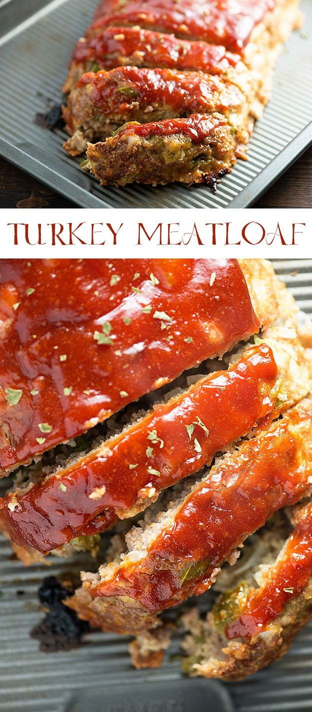 This turkey meatloaf will be a new family favorite - it's so moist and the sauce on top is so good!