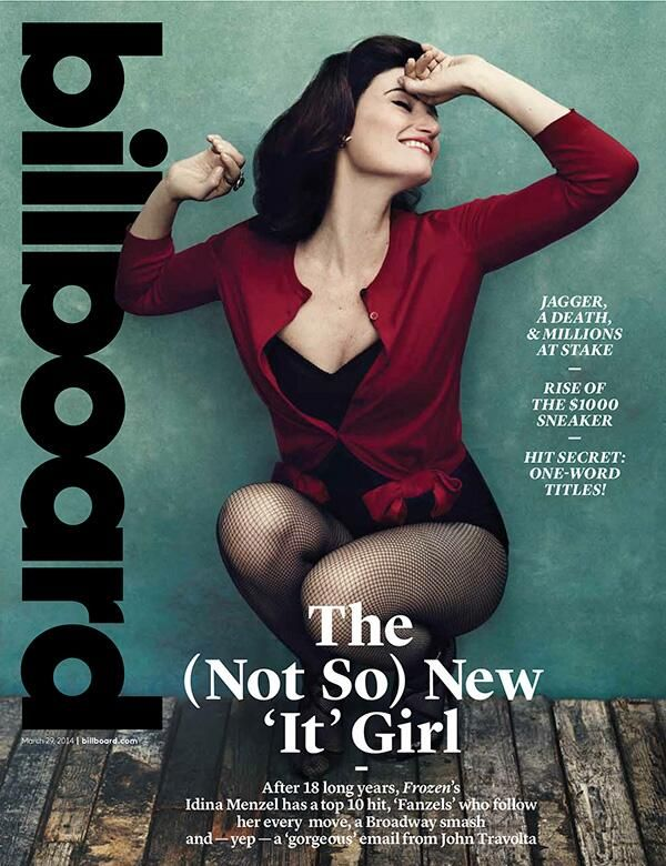 Billboard Idina Menzel. It's about time!