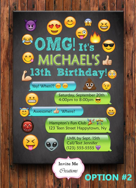 Emoji Birthday Invitation Emoji Invite Girl by ...