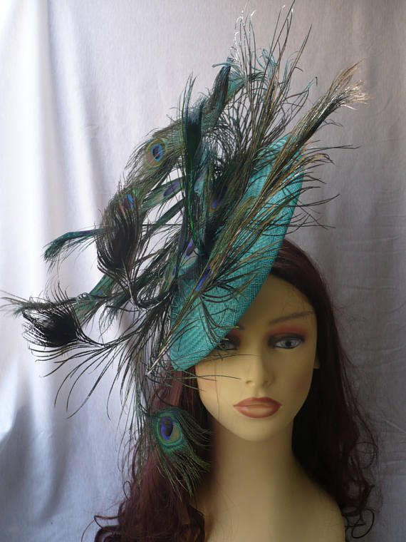 tocado de plumas de pavo real tocado con plumas tocado
