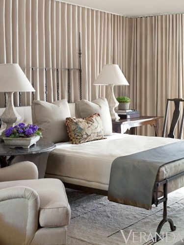 curtained walls - just one wall though, to add color and texture to walls you can't paint.